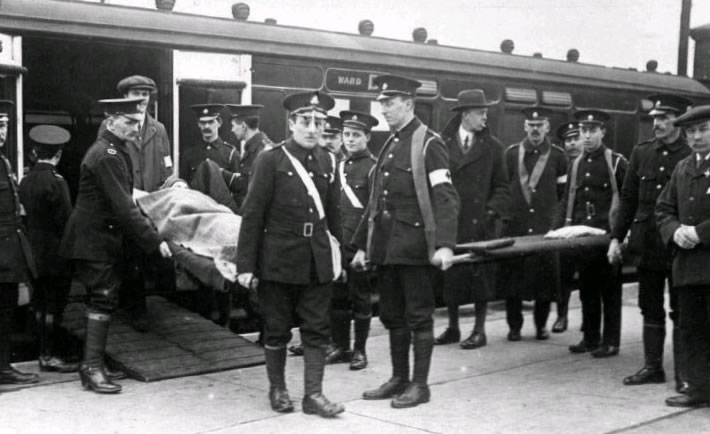 Wounded in WW1
