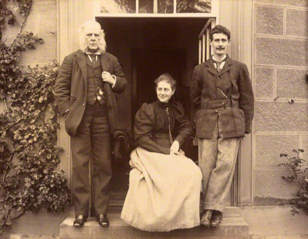 Beatrix Potter with her father Rupert and brother, Bertram