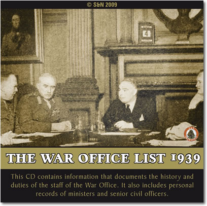 The War Office List 1939